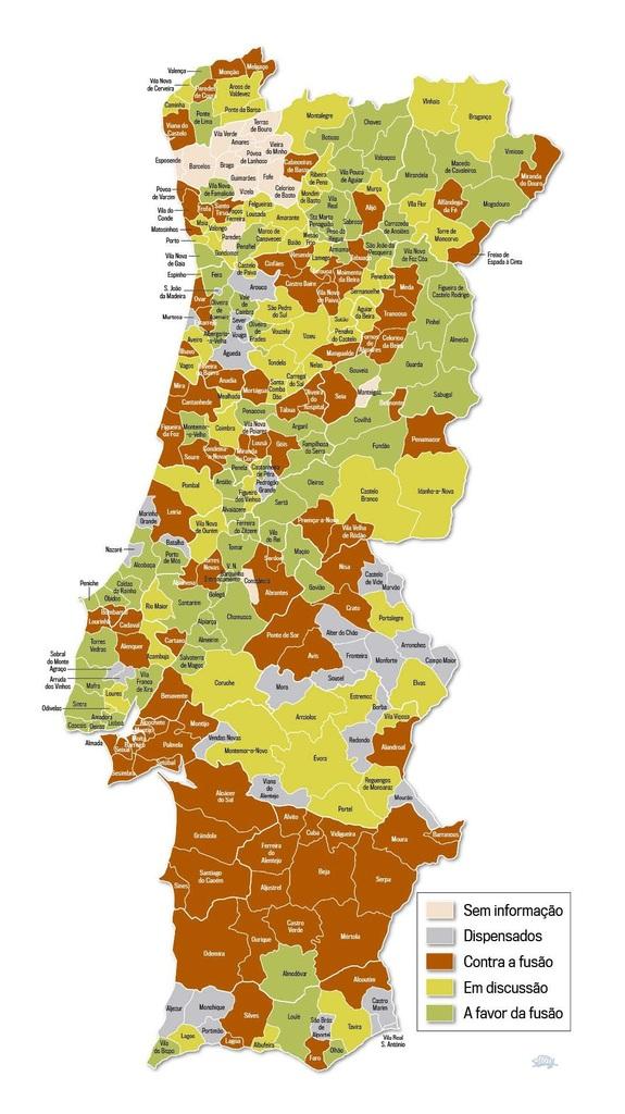 mapa de portugal com freguesias Mapa de Fusões de Freguesias » Blog DeAr Lindo mapa de portugal com freguesias