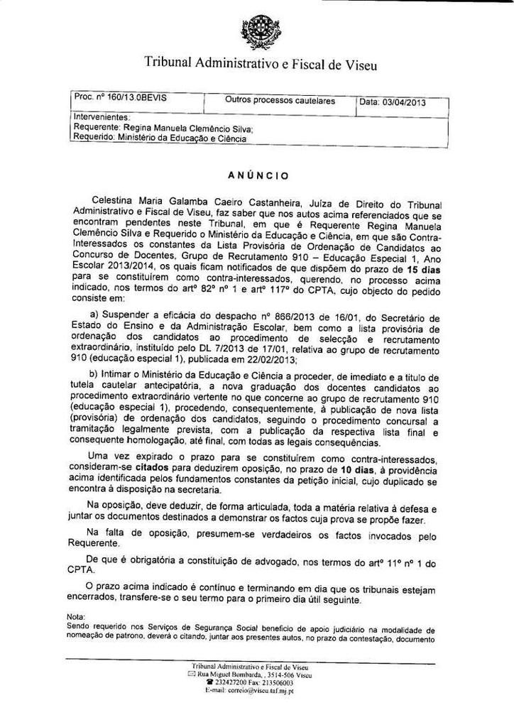 Citação de contrainteressados – Concurso Externo Extraordinário_ Grupo de Recrutamento 910_Página_01