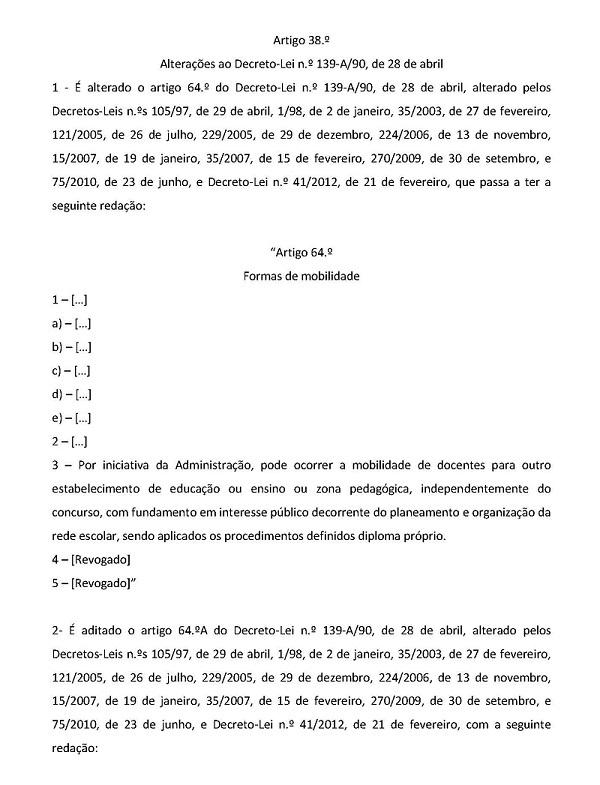 REQUALIFICAÇÃO - alteração do ECD e DL n º 132 2012- 04 06