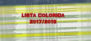 LISTA COLORIDA 2017/2018